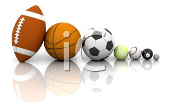 Different Kinds of Sports Balls in 3D