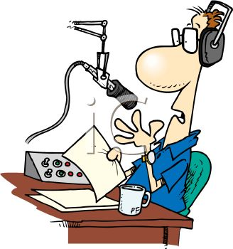 Cartoon of a Radio Talk Show Host