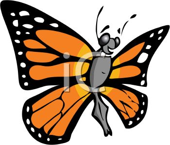 cartoon monarch butterfly royalty free clip art illustration rh clipartguide com blue monarch butterfly clipart
