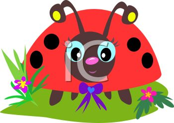 Whimsical Ladybug with a Bow