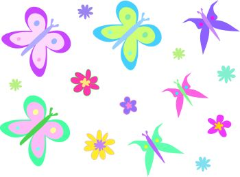 clipart flowers and Butterfly Flower Clipart