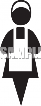 Maid Symbol - Royalty Free Clip Art Picture