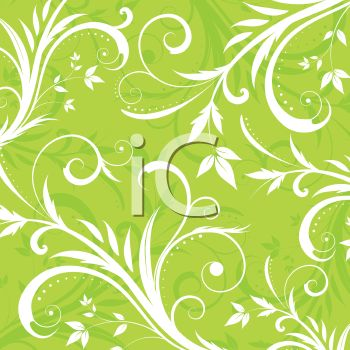 Flourishes and Swirls Floral Background