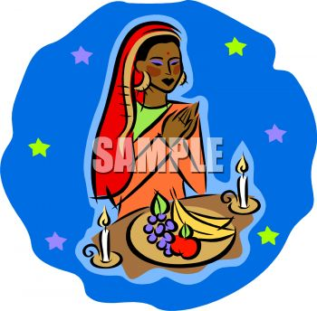 clip art woman praying