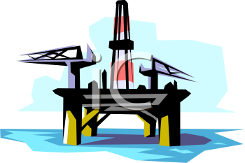 Drilling Platform on an Offshore Oil Well