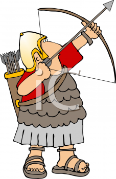 royalty free clip art image roman soldier shooting a bow and arrow rh clipartguide com roman soldier clipart free
