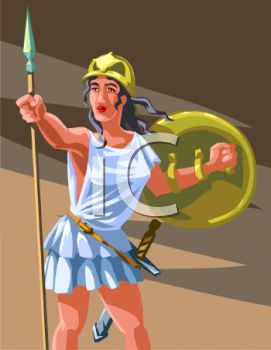Greek Female Warrior Athena