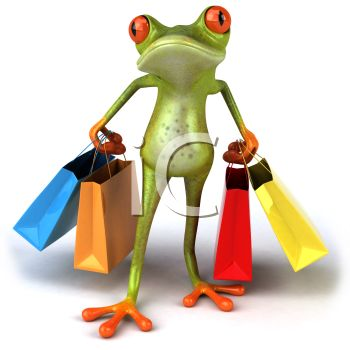 3D Tree Frog Carrying Shopping Bags