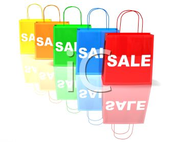 Shopping Bags Marked with Sale