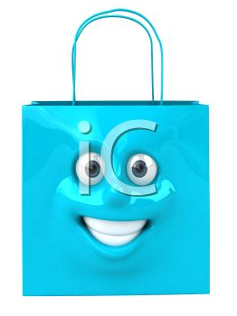 3D pping Bag with a  Smiling Face