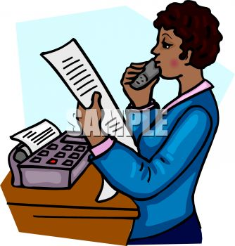 African american sales woman reading a fax over the phone royalty african american sales woman reading a fax over the phone royalty free clipart picture sciox Gallery
