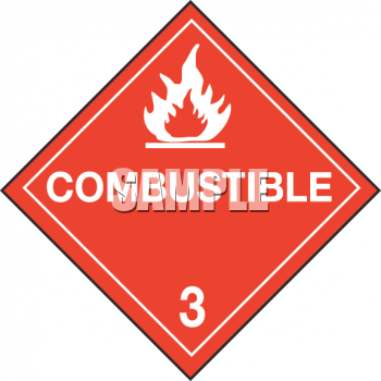 Warning Sign for Combustible