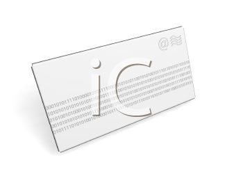 3D Letter Envelope with Binary Code Printed Across It