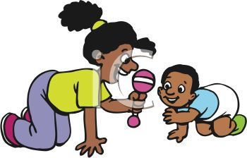 african american sister playing with her baby brother royalty free rh clipartguide com Pitbull Clip Art Girl Clip Art