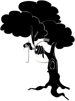 Silhouette of a Serpent in a Tree
