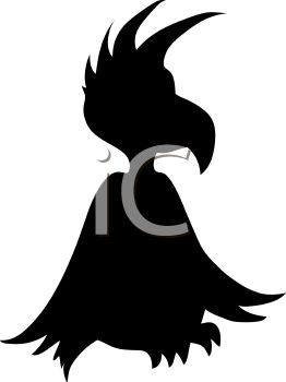 Animal Silhouette of a Funky Bird