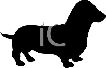 Animal Silhouette of a Dachshund