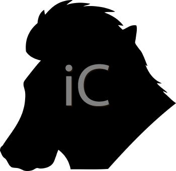 Animal Silhouette of a Horse Head