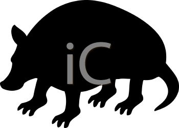 Animal Silhouette of an Armadillo