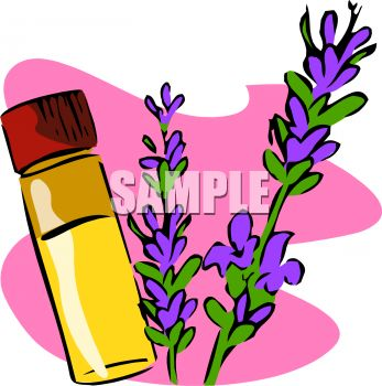 Vial of Essential Oil Made with Lavender