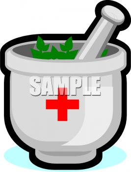 Apothecary Mortar and Pestle - Royalty Free Clipart Picture