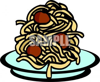 Pile of Spaghetti and Meatballs