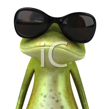 "This ""frog wearing dark glasses"" clip art image is available as part of a"
