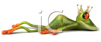 Lovesick Frog Laying on His Stomach