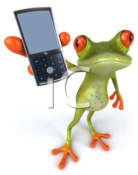 Frog Holding Out a Cell Phone