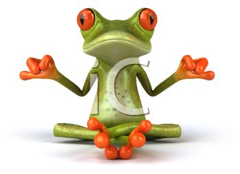 Meditating Frog in the Lotus Position