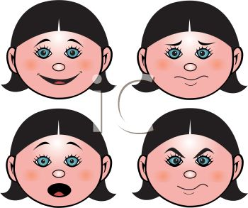 girl s face showing different emotions royalty free clip art picture rh clipartguide com emoticons clipart free emotions clip art free