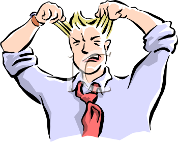 Frustrated Man Pulling His Hair Out