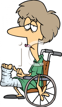 cartoon of a depressed woman in a wheelchair with a broken leg rh clipartguide com clipart broken leg clipart broken leg
