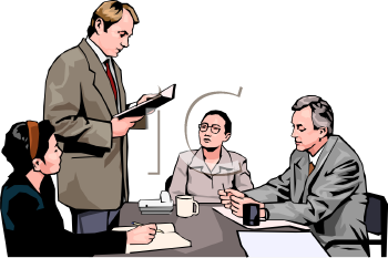 Realistic Style-People at a Meeting