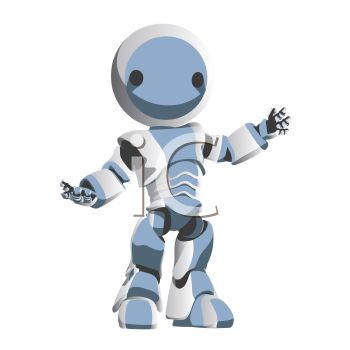 Cute Robot Holding Out His Arms