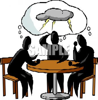 cliche for a brainstorming session royalty free clip art image rh clipartguide com person brainstorming clipart