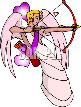 royalty free clip art image cupid shooting an arrow of love rh clipartguide com cupid clip art for valentine's day cupid clipart black and white