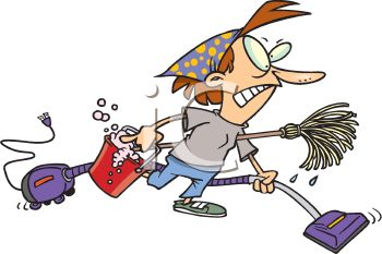 cartoon of an angry housewife doing spring cleaning royalty free rh clipartguide com office spring cleaning clipart spring clean up clipart free