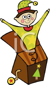 cartoon jack in the box toy royalty free clip art image - Jack In The Box Open On Christmas