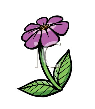 Cartoon of a Violet Flower