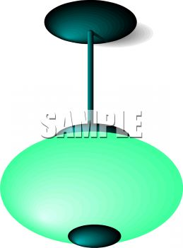 A Bubble Shaped Ceiling Lamp