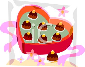 A Heart Shaped Box Of Chocolate Candies