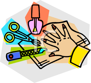 Manicure Items - Royalty Free Clip Art Illustration