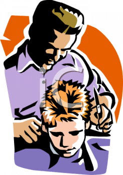barber giving a boy a haircut royalty free clip art picture rh clipartguide com barber clipart png barber clip art free