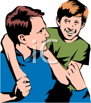 happy father and son royalty free clip art picture rh clipartguide com father and son fishing clipart father and son hugging clipart