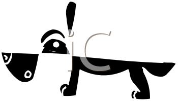 Abstract Dog Cartoon