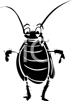 Cockroach Silhouette