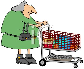 old woman grocery shopping royalty free clip art illustration rh clipartguide com grocery clip art pictures grocery clip art photos