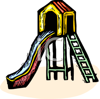 Royalty Free Clipart Image: Slide in a Playground
