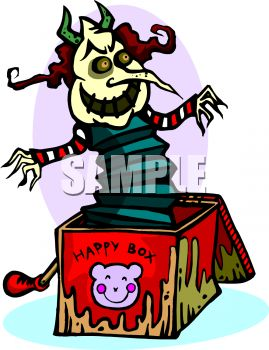 Evil Jack in the Box - Royalty Free Clip Art Picture